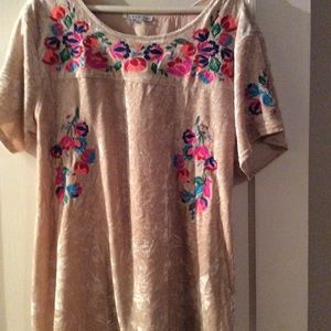 See and Be Seen Boho Top beige large